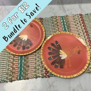 Pottery Barn kid's Thanksgiving melamine plates 2